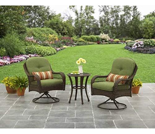 3-Piece Outdoor Furniture Set, Better Homes and Gardens Azalea Ridge 3-Piece Outdoor Bistro Set, Green, Seats 2 (Outdoor Rockers Swivel)
