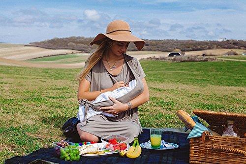sofsy Soft- Vestido de moda atable al frente de mezcla de suave rayón de Amamantar y Maternidad Vestir Verde Oliva