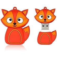 WTK 32GB Novelty Animal Red Fox USB Flash Drive