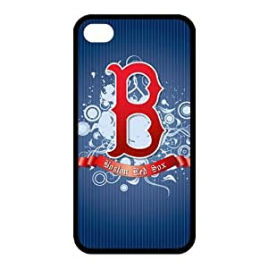 Custom Red Sox Back Cover Case for iphone 4,4S JN4S-763