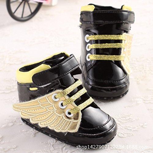 Leap Frog  High Top Sneaker, Baby Jungen Lauflernschuhe schwarz / goldfarben