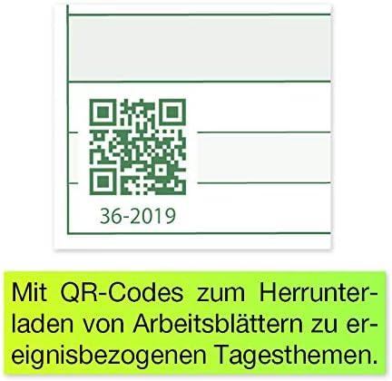 A4 TimeTEX System Schulplaner 2020//2021 gr/ün quer