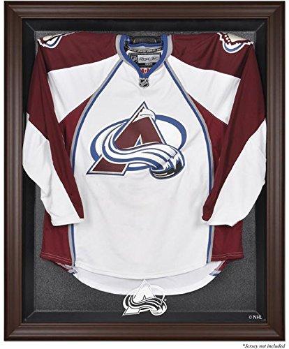 Amazon.com : Colorado Avalanche Brown Framed Logo Jersey Display ...