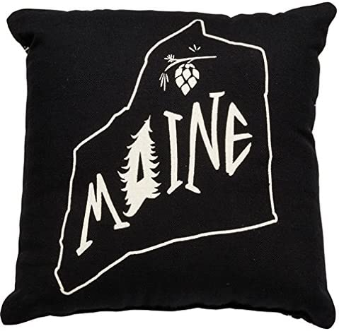 Amazon Com Primitives By Kathy Home State Maine Decorative Throw Pillow 10 Inch Square Home Kitchen