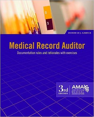 Medical record auditor 9781603592949 medicine health science medical record auditor 9781603592949 medicine health science books amazon fandeluxe Gallery
