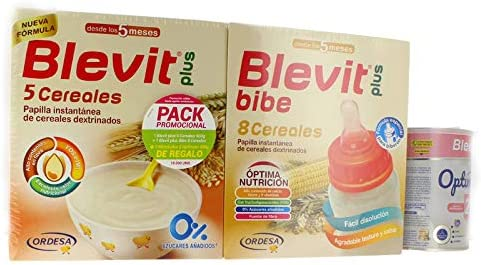 PACK BLEVIT 8 CEREALES CON MIEL 600g.+1 BLEVIT PLUS BIBE 8 CEREALES + 1 BLEMILPLUS 2 OPTIMUN 400G.: Amazon.es: Alimentación y bebidas