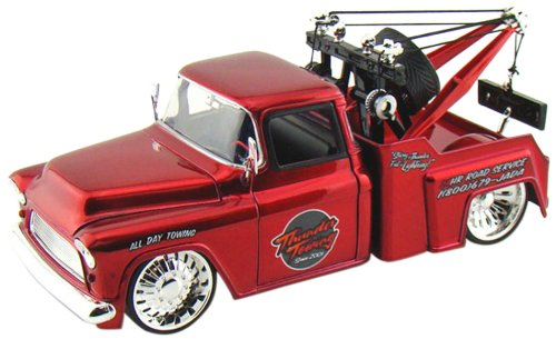 Jada 1955 Chevy Stepside Tow Truck - KMC (Muscle Machines Rc)