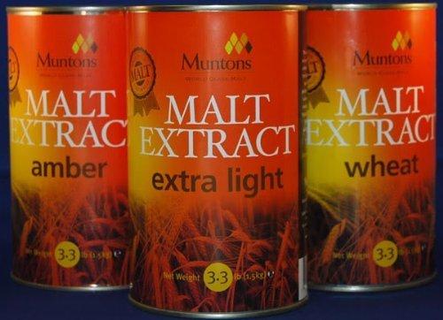 [Muntons Hopped Dark (3.3 lb) Liquid Malt Extract by Muntons] (Hopped Extract)