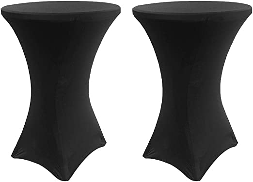 Hengda 2x Funda elástica para mesa bar bistro Cobertura Elástico ...