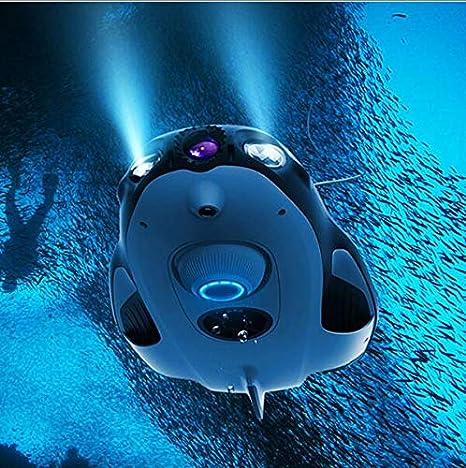 Unterwasserdrohne 4k Hd Kamera Lange Batterie Lebensdauer Tauchreisen Detector Für Echtzeit Betrachtung Streaming Recording Die Unterwasserwelt Weiß Sport Freizeit