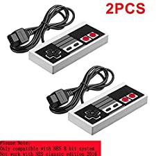 2-Pack Classic NES Controllers for NES 8 Bit Entertainment System Console Control Pad