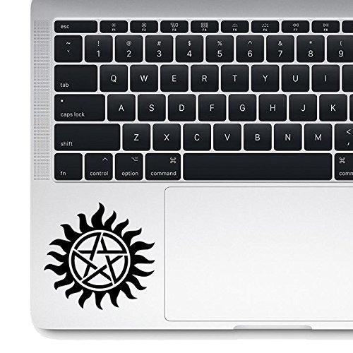 Supernatural Die-cut Vinyl Decal Macbook Laptop Sticker (Black) (Supernatural Decal)