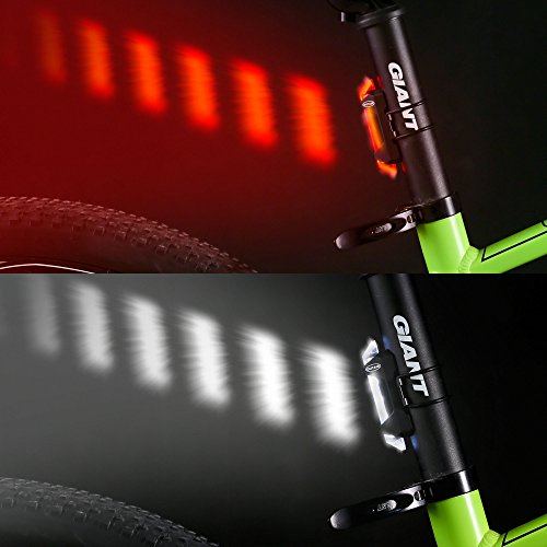 Outair USB Rechargeable Bicycle Light Front And Tail Set 5 LEDs 4 Modes Head Back Bike Flashing Safety Warning Lamp (Red&White) by Outair (Image #4)