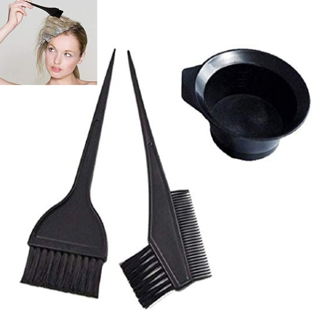 RANRANHOME 3 Pcs Professional Salon Hair Coloring Dyeing Kit - Dye Brush & Comb/Mixing Bowl/Tint Tool by RANRANHOME