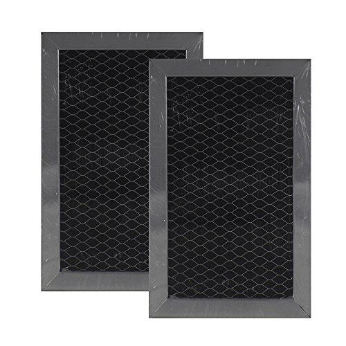 - 2 Pack Air Filter Factory Compatible for GE JX81J Charcoal Carbon Microwave Filter Size 3.875 x 6.18 x .37 Inches