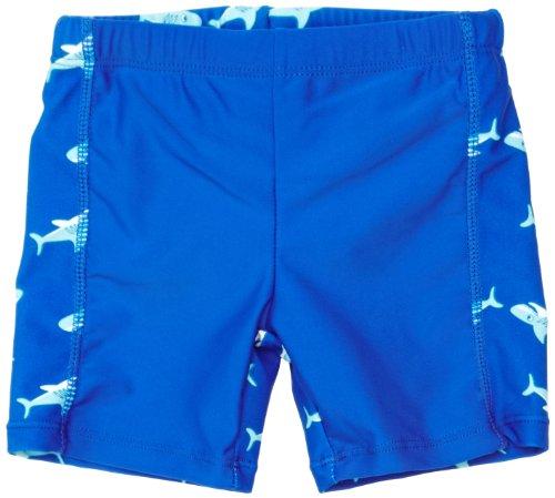 Playshoes Jungen Badeshort 460125 Badehose, Badeshorts Hai mit höchstem UV-Schutz nach Standard 801 und Oeko-Tex Standard 100, Gr. 110/116, Blau (original)