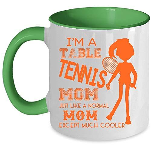 Cool Mom Coffee Mug, I'm A Table Tennis Mom Accent Mug (Accent Mug - Red) - Mug 11 oz accent mug - green