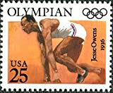 Single 1990 25 Cents US Postage Stamp, Scott# 2496, Olympics Issue, Jesse Owens