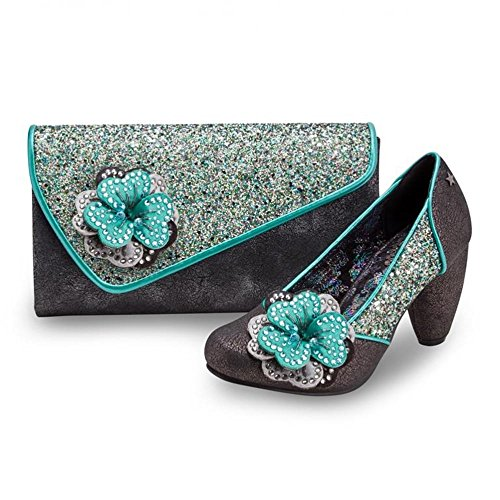and Sparkling Couture Bag Joe Sassy Pewter Clutch Teal Browns xZpCwHqnwa