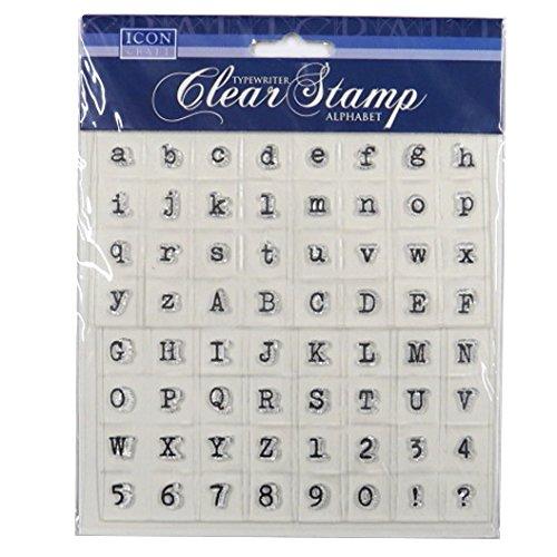 Icon Craft, máquina de escribir claro sellos - alfabeto: Amazon.es: Juguetes y juegos