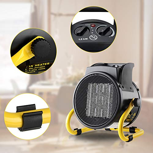 Prowarm Fan Forced Ceramic Portable Electric Heater With