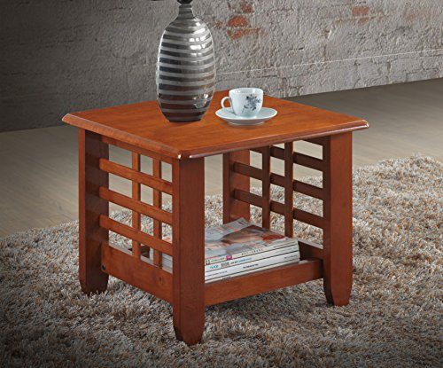 Mission Cherry Wood (Baxton Studio Lamon Modern Classic Mission Style Cherry Finished Wood Living Room Occasional End Table)