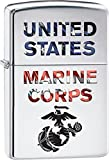 Personalized Message Engraved Customized Gift For Him For Her U.S. Marine Corps. Zippo Indoor Outdoor Windproof Lighter (Marine Corps)