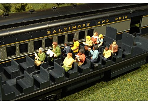 (Scene Scapes - Miniture Figures - Waist-Up Seated Passengers (12Pcs/pk) - HO Scale)