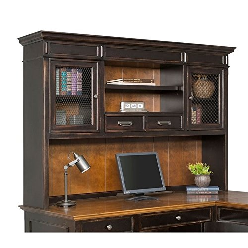Martin Furniture Hartford Hutch, Brown - Fully Assembled - Furniture Hutch