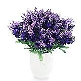 Conjugal Bliss Artificial Lavender Silk Flower, 10 Bouquet Organic Purple Lavender Fake Flowers for Wedding Party Office Hotel Shop Christmas Home Decoration, Purple