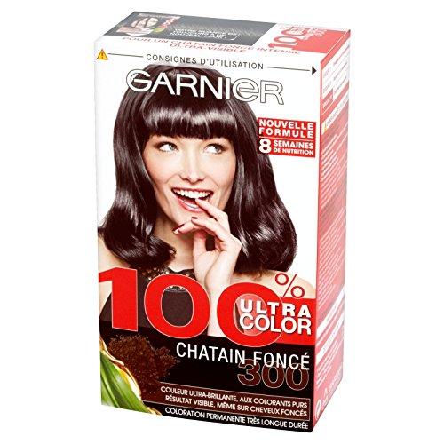 garnier 100 ultra color coloration permanente chtain 300 chtain fonc amazonfr hygine et soins du corps - Coloration Chatain Fonce