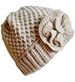 Winter Hat for Women Girl Teen's Winter Thick Knit Beanie Ski Hat Frost Hats M-10A