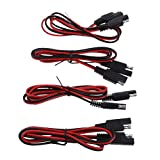 MagiDeal 4x Auto Motorcycle Boat SAE To SAE Connector Quick Disconnect Wire Harness