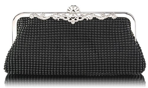 Stunning Beaded Stunning Bag Black Beaded Black Crystal HwHxOqTz6