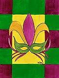 Caroline's Treasures 8035CHF Mardi Gras Flag Canvas, Large, Multicolor Review