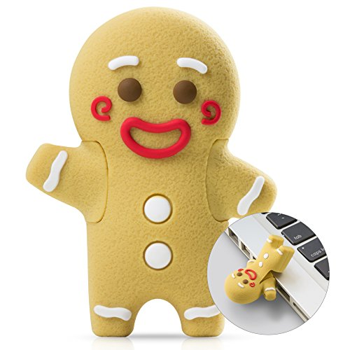 Bone Collection 16GB USB Flash Drive, Novelty Cartoon Character Cute Animal Cool Design Silicone Memory Card Thumb Stick Data Storage for School Students Kids Children -Gingerbread - Store Animas