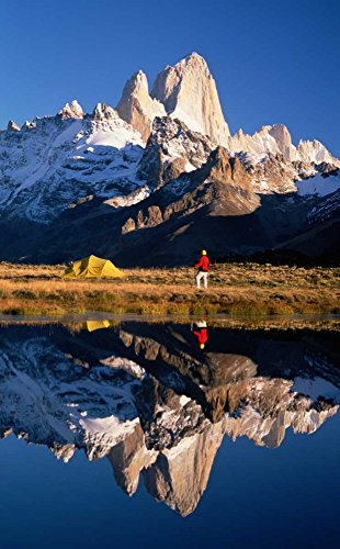 Posterazzi Poster Print Collection Trekkers Camp Under Mount Fitzroy, Los Glaciares NP, Patagonia, Argentina Colin Monteath, (12 x 18), Varies