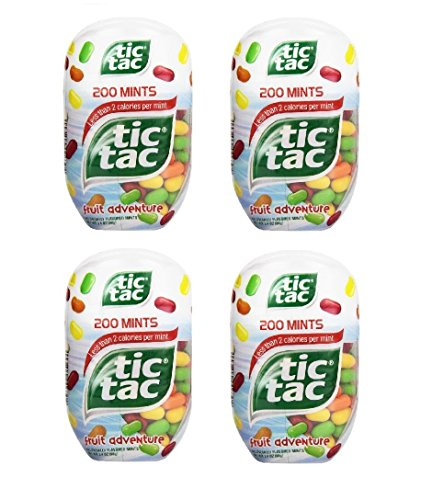 tic tac Fruit Adventure Bottle Pack, 3.4-Ounce / 200 Count (Pack of 4) 800 Total](Tic Tacs Jumbo Pack)