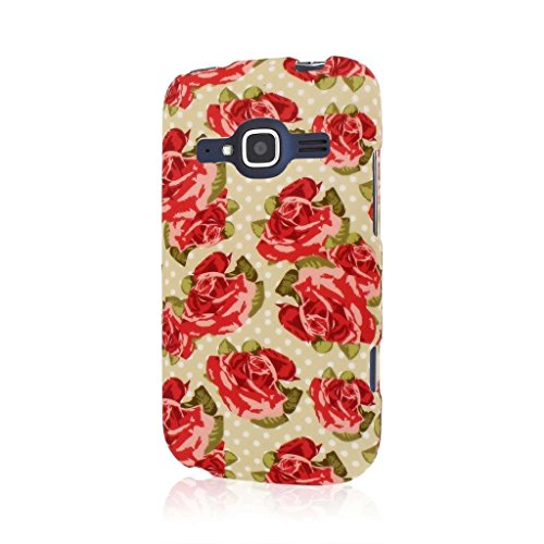 Empire MPERO SNAPZ Series Rubberized Case for ZTE Concord 2 - Retail Packaging - Vintage Red (Concord Rose)