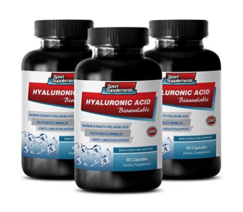 Rejuvenation Pills - HYALURONIC Acid BIO-Available - Skin Hydration Support - hyaluronic Acid Bulk Supplements - 3 Bottles 180 Capsules by Sport Supplements (Image #7)