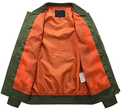 Army Sportivo Volo Flight Leggera Sawadikaa Uomo Giacca Bomber Sportiva Green Abbigliamento qxz6RwC