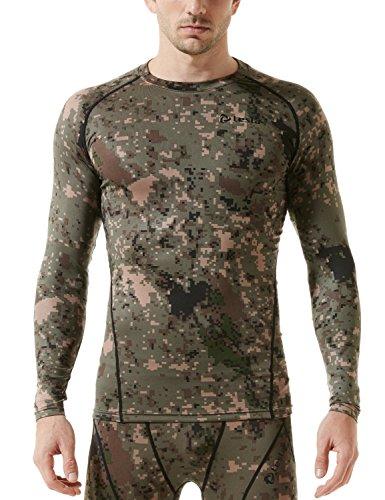 (テスラ)TESLA オールシーズン 長袖 ラウンドネック スポーツシャツ [UVカット?吸汗速乾] コンプレッションウェア パワーストレッチ アンダーウェア R11 / MUD01 / MUD11