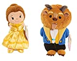 Set of 2: Beauty and the Beast Stylized Bean Stuffed Figures (Appr 5 inch) - BELLE and BEAST - Come in the Perfect Collectible Size! Great for Both Play and Display!