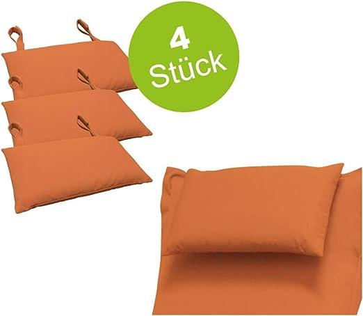 Indoba - 4 Cojines Muebles de jardín, Cojines de teracotta para tapicería, Cojines para la Cabeza, sillas, tumbonas de jardín: Amazon.es: Jardín