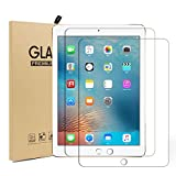 New iPad 2017 9.7 Screen Protector [2 Pack], UCMDA Ultra-thin 2.5D Rounded Edge 9H Hardness Tempered Glass Screen Protector Guard Film for iPad Pro 9.7 inch / iPad Air 2 / iPad Air / iPad 2017 9.7 inch
