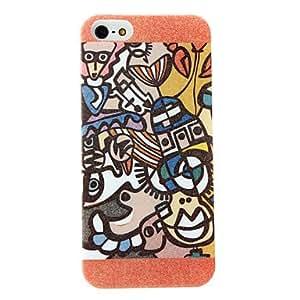 GONGXI-Personas y patrón de la caja dura de la superficie helada animal para el iphone 5/5s