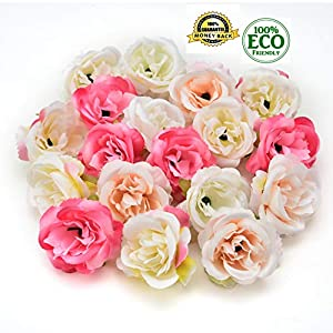 silk flowers in bulk wholesale Fake Flowers Heads Mini Rose Fabric Artificial Flowers Wedding Party Home Interior Decoration Party Shoes Hat Accessories Silk Flowers 30pcs 4cm (Multicolor) 56