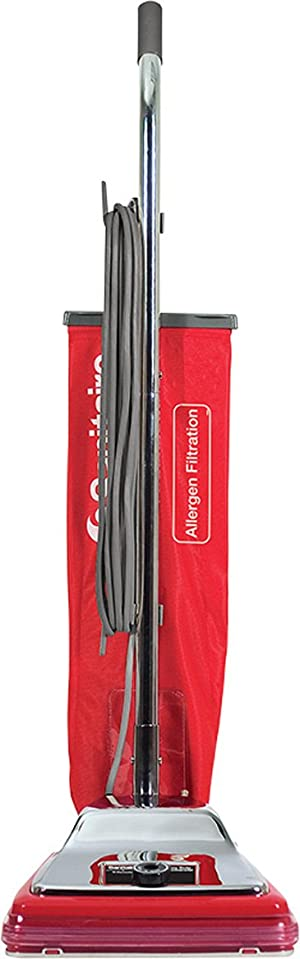 Sanitaire SC888K Commercial CRI Approved Upright Vacuum Cleaner with Disposal Bag and 7 Amp Motor, 12