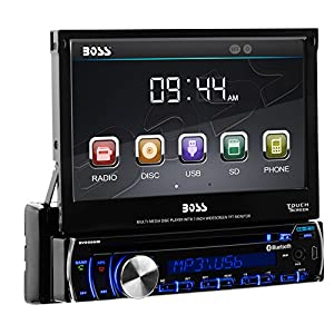 BOSS Audio BV9986BI Single Din, Touchscreen, Bluetooth, DVD/CD/MP3/USB/SD AM/FM Car Stereo, 7 Inch Digital LCD Monitor, Detachable Front Panel, Wireless Remote, Multi-Color Illumination