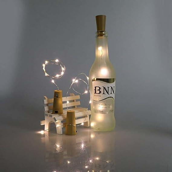 LED Botella Corcho Luces, 12 PCS corcho de vino de luces,DIY Luz de la Secuencia del Alambre de Cobre del Corcho, la lámpara de la decoración del partido ...